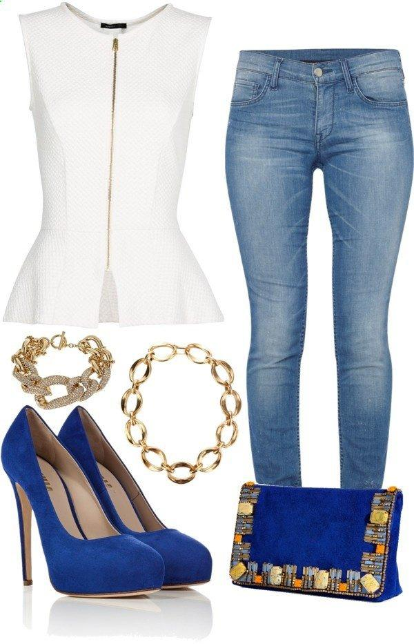 Polyvore Combos With Peplum Tops street style3