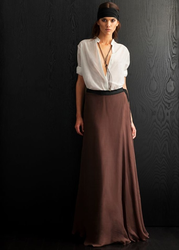 how to wear a maxi skirt 1