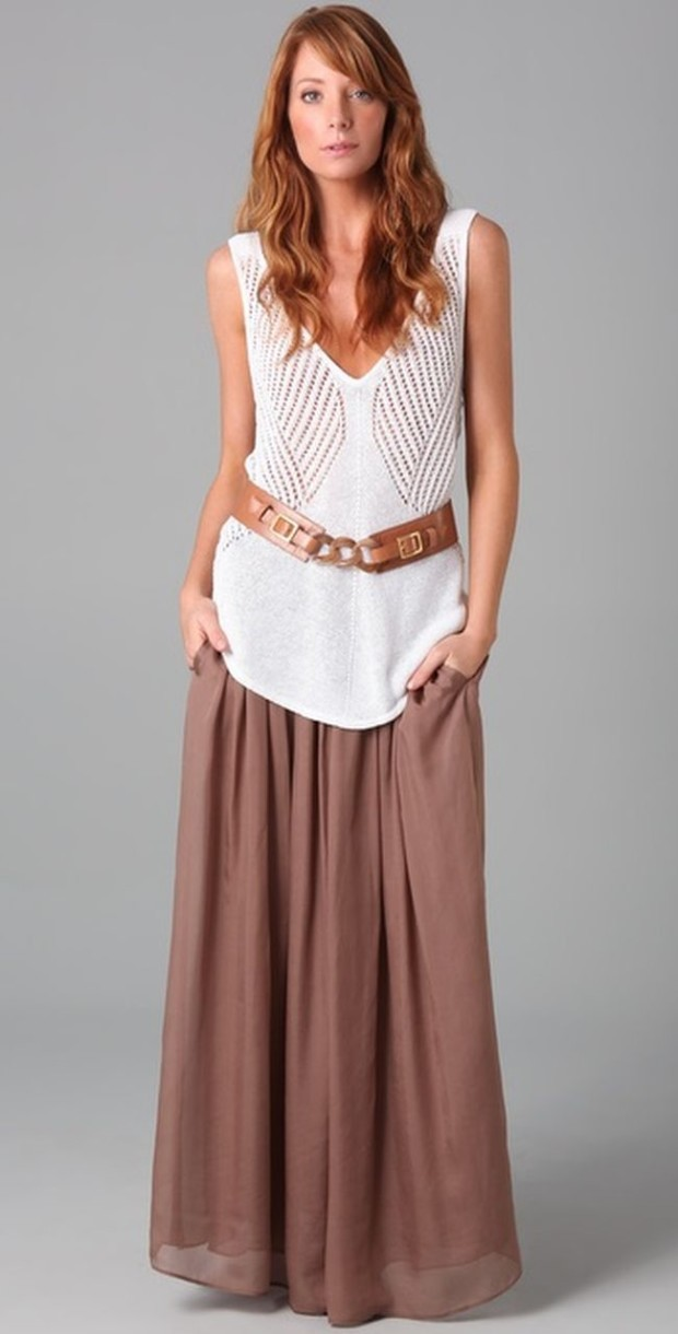 how-to-wear-maxi-skirt-flowy-top
