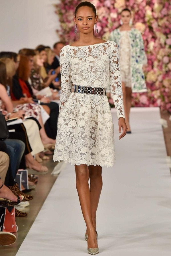 Lace dresses spring 2015 street style