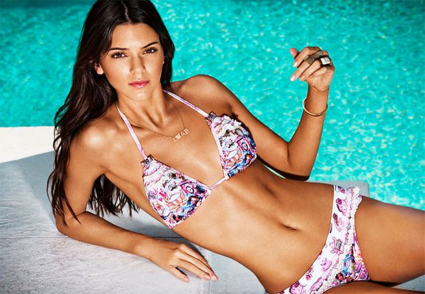 kendall-jenner-pink-bikini-purple-swimsuit