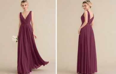 bridesmaid-dress-princess-v-neck-floor-length-chiffon-with-ruffle