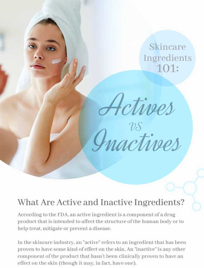 Skincare Ingredients 101: Actives vs. Inactives